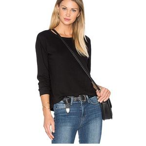 Wilt Shrunken Crop Sweatshirt in Basic Black